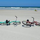 Bikes on the Beach by Caren Grant