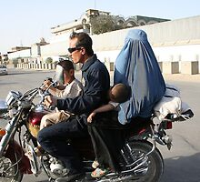 Ride to hell. Stop the burqa! by Amador Guallar Perez