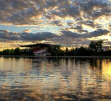 Lansdowne Park on the Rideau Canal at sunset - Ottawa by Adam Pap