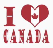 I Heart Canada by born2draw