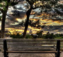Lazy sunset with a view of the Rideau Canal - Ottawa, Canada by Adam Pap