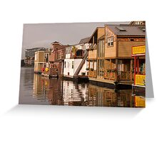 Houseboats at Fisherman's Wharf, Victoria, British Columbia Greeting Card