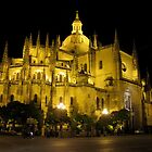 Cathedral by Night, Segovia, Spain by jtalia
