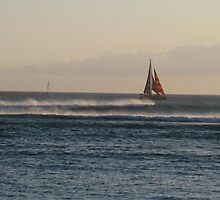 Sailboat at Sunset by jtalia