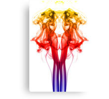 Dance of Color - Smoke Photography Canvas Print