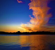 Sunset At Lake Burley Griffin by Elaine Short