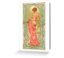 Art Noveau: Rivulet Greeting Card