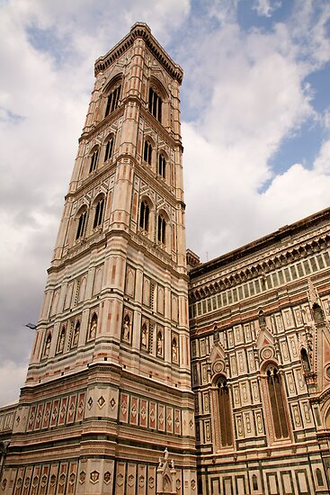 The neo-gothic facade of the Duomo in Florence by Ian Middleton