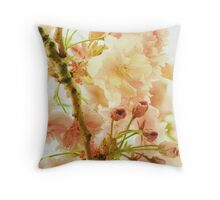 Dreaming in Blossoms Throw Pillow