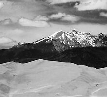 The Great Sand Dunes and Sangre de Cristo Mountains - BW by Bo Insogna