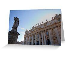 Saint Peters Basilica, Vatican City, Rome, Italy Greeting Card