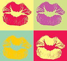 Pop Art Kiss by zbw101