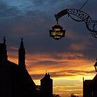 Rothenburg  - Burgtor at Dusk #2 by David J Dionne