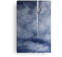 Icicle And Water Drop Canvas Print