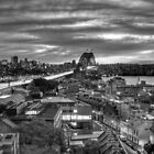 Sydney Harbour Bridge - B&W Sunrise by Richard  Cubitt