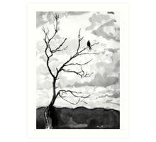 bird with overcast sky Art Print
