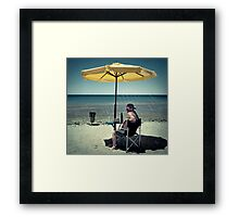 Private beachparty... Framed Print