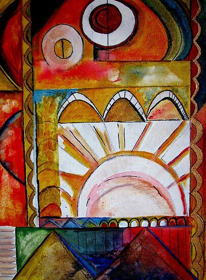 Sunshine abstract by Elizabeth Kendall