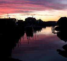 Peggy's Cove Silhouette by Atlantic Dreams