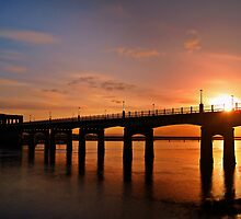 Sunshine Over The Kincardine Bridge, Scotland. by Aj Finan