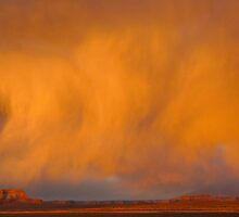Cloud burst at sunset by Linda Sparks