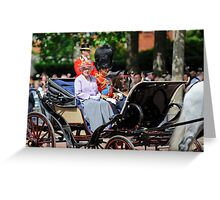 The Queen Looked at Me:-) Oh My... Greeting Card