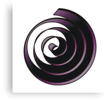 purple spiral Canvas Print