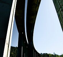 Motorway bridge over the Rio Ulla, Galicia, Spain by Andrew Jones