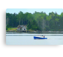 Cruiser Entering the Harbor Metal Print