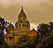 The Ominous Denton Courthouse by Stacie Forest