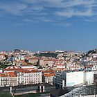 Panoramic shot of Lisbon's old neighbourhoods by dcordeiro