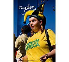 South African Soccer Fan Soccer Fan in Jester's Hat Photographic Print