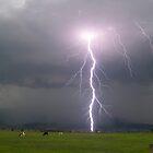 Powerful Lightning Strike by Michael  Keene