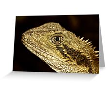 Eastern Water Dragon Portrait Greeting Card