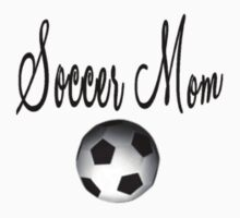 Soccer Mom T-Shirt (Black & White) by Angi Baker