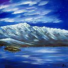 The Remarkables at Dusk by Ira Mitchell-Kirk