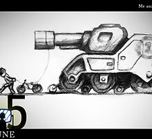 June 15th - Me and my tank by 365 Notepads -  School of Faces