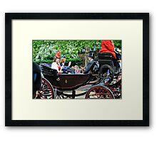 Princess Eugene... Trooping of the Colour, London, UK. Framed Print