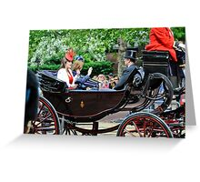 Princess Eugene... Trooping of the Colour, London, UK. Greeting Card