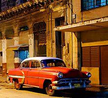 Classic American car at Dawn, Havana, Cuba by buttonpresser
