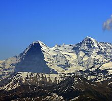 Eiger Mönch seen from Stockhorn, Switzerland by eveline