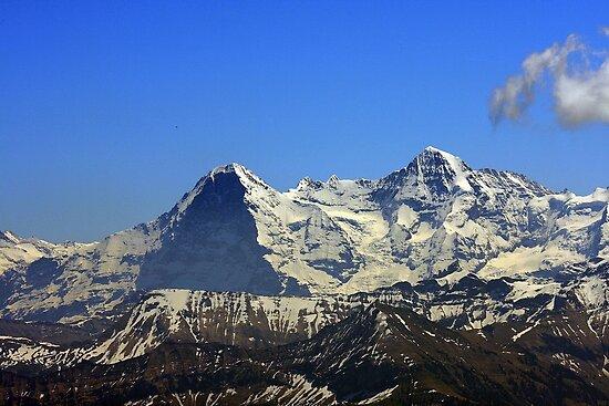 Eiger Mönch seen from Stockhorn, Switzerland by eveline