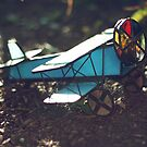 Stained Glass Airplane Kaleidoscope by amaniacadored