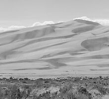 Great Sand Dunes National Park Panorama #BWC10-001 by Christopher Heil