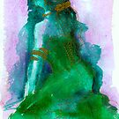 Woman in Green & Gold by Whitney Mattila