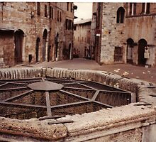 Cistern in San Gimignano by Steven Lance  Overfield