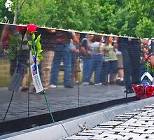 Vietnam Memorial - Washington DC by David J Dionne