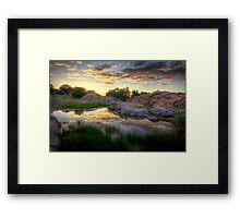 Cloudy Water Framed Print