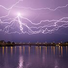 Incredible lightning. Right place, right time!!!  by Michael  Keene