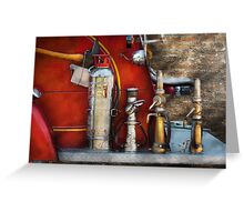 Fireman - An Assortment of Nozzles Greeting Card